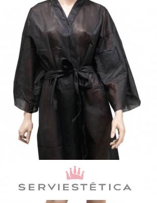 Bata kimono negra desechable